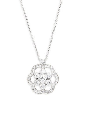 Click here for Oasis Diamond & 18K White Gold Pendant Necklace prices