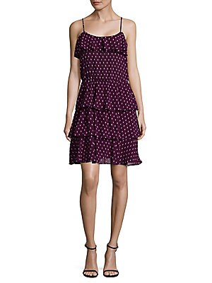 Ruffle Slip-On Dress