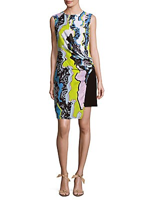 Abito Donna Patterned Wrap Dress
