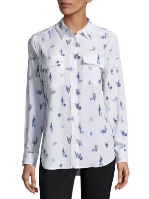 Slim-Fit Silk Printed Shirt Equipment