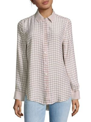 Gingham Silk Top Equipment
