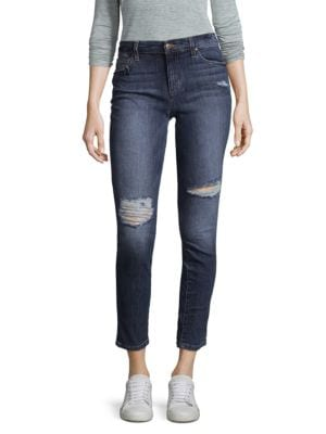 Banded Distressed Jeans