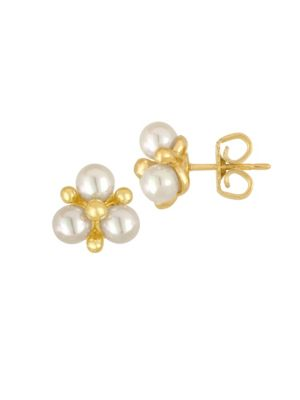 Faux-Pearl Cluster Stud Earrings Majorica