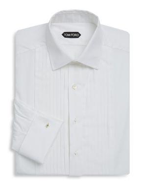 French Cuffs Cotton Tuxedo Shirt Tom Ford