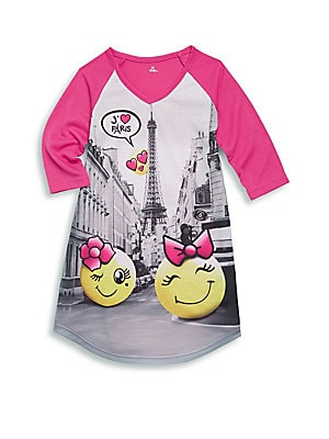 Little Girl's Emoji Paris Nightgown