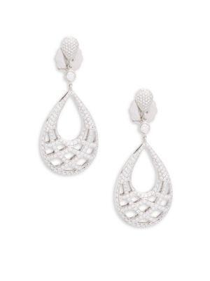 White Gold  Diamond Drop Earrings Kwiat