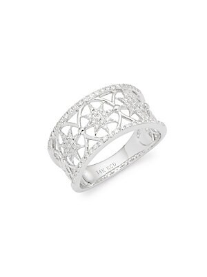Click here for Diamonds & 14K White Gold Band Ring prices