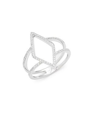 Click here for Diamond & 14K White Gold Geometric Ring prices