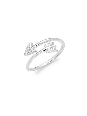 Click here for Diamond & 14K White Gold Arrow Ring prices
