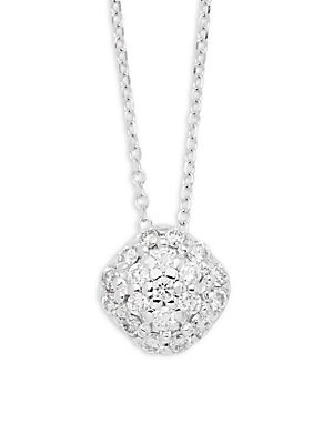 Click here for Diamonds & 14K White Gold Pave Cushion Pendant Nec... prices