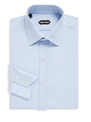 2-Button Cuffs Cotton Dress Shirt