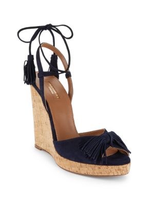 WILD ONE LEATHER WEDGE SANDALS