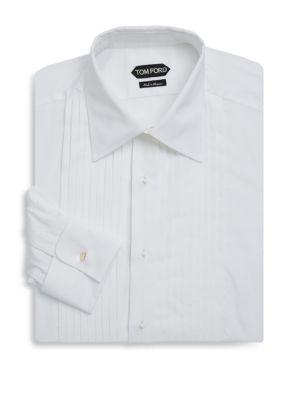 Crease Cotton Tuxedo Shirt Tom Ford
