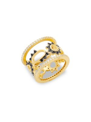 Crystal Spike Oval Midi Ring FREIDA ROTHMAN