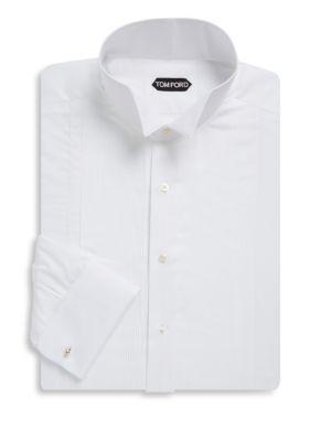 Wingtip Cotton Tuxedo Shirt Tom Ford