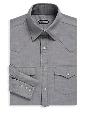 2-Pocket Cotton Dress Shirt