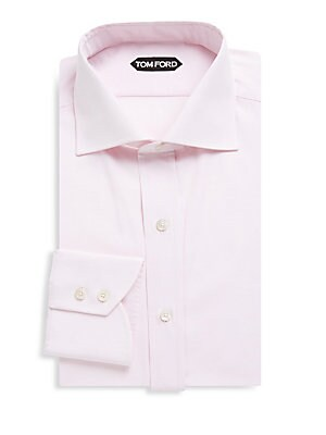 Cotton Spread-Collar Dress Shirt