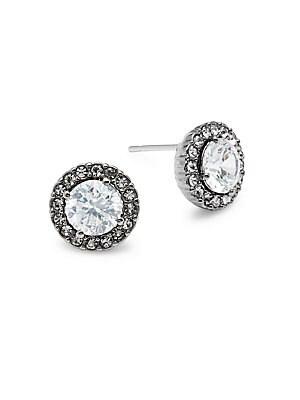 Crystal Framed Stud Earrings