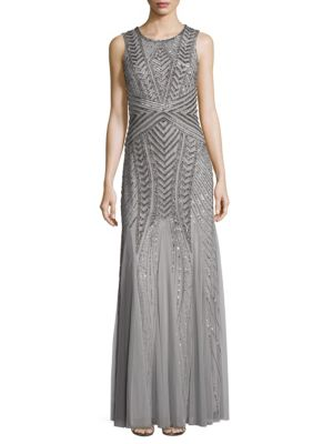 Fully Be Gunmetal Gown Adrianna Papell