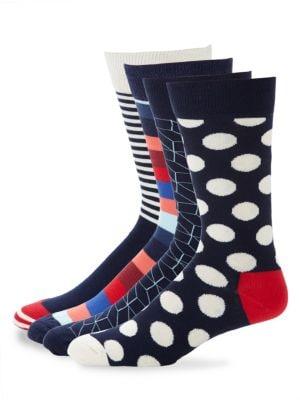 Assorted Print Crew Socks Set Happy Socks