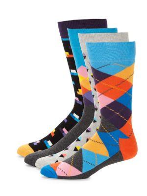 Combed Socks Set Happy Socks
