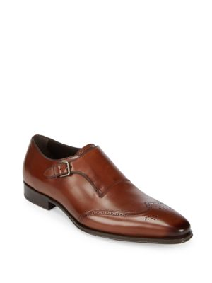 Avery Monk Strap Leather Oxfords Mezlan