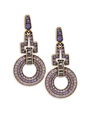 Crystal Open Circle Dangle  Drop Earrings Heidi Daus