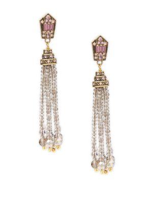 Crystal Tassel Dangle  Drop Earrings Heidi Daus
