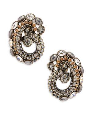 Crystal Paisley Earrings Heidi Daus