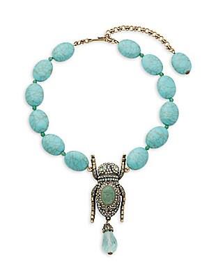 Crystal Bug Necklace