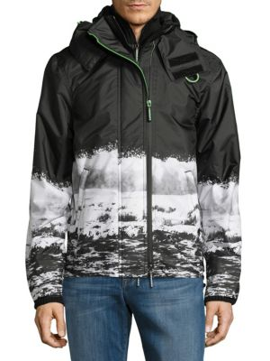 Mono Wave Hooded Jacket Superdry