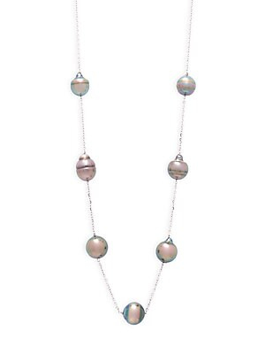 9-10MM Grey Tahitian Pearl Necklace
