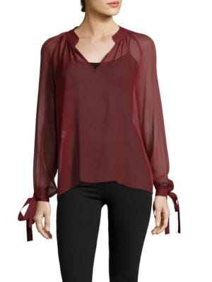 Long-Sleeve Silk Blouse Derek Lam 10 Crosby