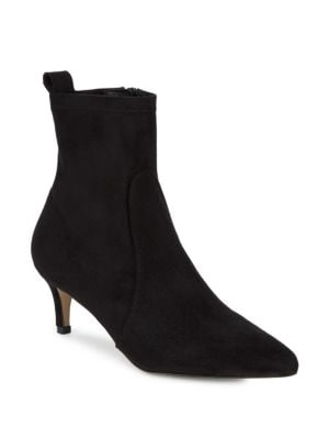 Point Toe Suede Booties