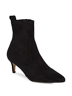 Saks Fifth Avenue - Point Toe Suede Booties