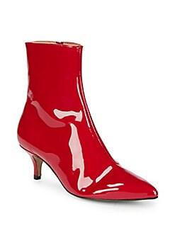 RENVY - Patent Kitten Heel Ankle Boots