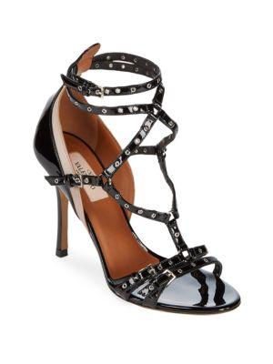 Open Toe Leather Ankle-Strap Pumps VALENTINO GARAVANI