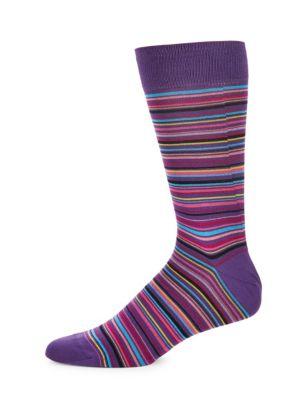 Multicolored Linear Socks Bugatchi