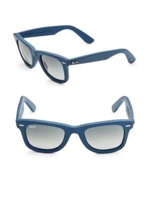 50MM Leather Craft Wayfarer Sunglasses