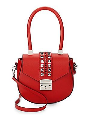Yolande Leather Top Handle Bag
