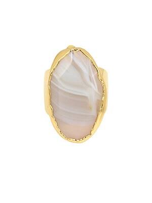Disco Agate Ring