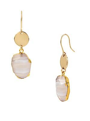 Agate Stone Drop Earrings