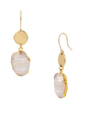 Agate Stone Drop Earrings Diane von Furstenberg