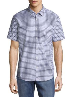 Check Short-Sleeve Casual Button-Down Shirt Original Penguin