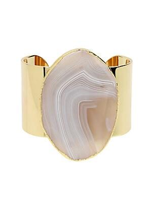 Disco Agate Cuff Bracelet