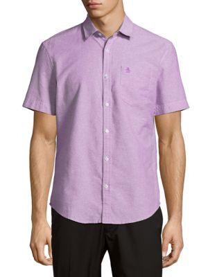 Cotton Short-Sleeve Casual Button-Down Shirt Original Penguin