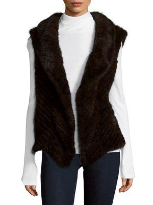 Open Front Vest with Fur La Fiorentina