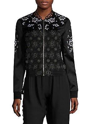 Brandy Lace Embroidered Jacket