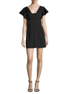 Stretch-Cotton Poplin Deni Dress