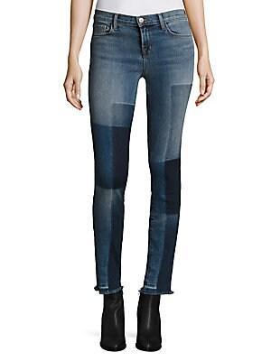 811 Shadow Patch Frayed Skinny Jeans/Reunion